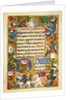 Page from the Bute Book of Hours by Corbis