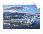 Ice washed ashore glacier at Joekulsarlon by Corbis