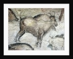 Replica of cave painting of bison from Altamira cave by Corbis