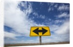 Road End warning sign on country road, Bruneau, Idaho by Corbis