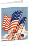 American flags by Corbis