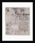 Study of machines by Leonardo da Vinci