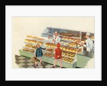 Boy and girl shopping at bakery by Corbis