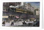 The Elevated Railway, Third Avenue, New York by Corbis