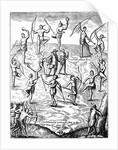 Captain John Smith taken prisoner by Indians in Virginia by Corbis