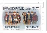 Anti free trade postcard by Corbis