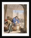 Men curing herring by Corbis