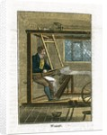 Weaver at his loom by Corbis