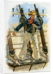 Sailor heaving the lead by Corbis