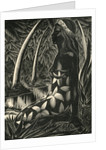 Tahitian woman in forest by Corbis