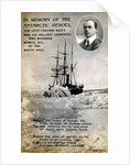 Postcard commemorating Captain Scott's expedition to South Pole by Corbis
