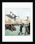 Alberto Santos-Dumont flying canard biplane by Corbis