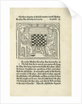 Woodcut print of a King and prelate playing chess by Corbis