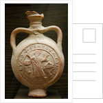 Pilgrim flask representing St. Menas in the orant pose by Corbis