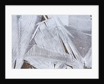 Ice crystals over creek by Corbis