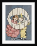 Illustration of girl and boy wearing costumes by Corbis