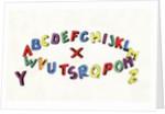 Colorful alphabet by Corbis