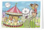 Calendar illustration amusement park by Corbis