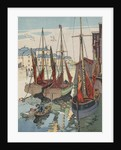 Boats in harbor by Corbis