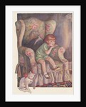 Girl sitting in armchair by Corbis