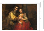Portrait of a Couple as Figures from the Old Testament, known as 'The Jewish Bride' by Rembrandt van Rijn