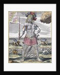 Colossus holding scepter by Corbis