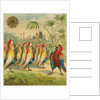 Advertisement with parrot soldiers by Corbis