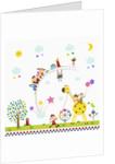 Happy children in amusement park by Corbis