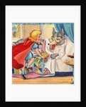 Big Bad Wolf and Little Red Riding Hood by Corbis