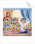 Big Bad Wolf hiding in grandmother's bed by Corbis