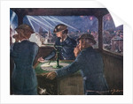 ARP officers in an observation post during the Blitz reporting on fires probably caused by incendiary bombs by Corbis
