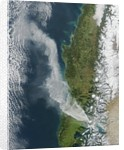 Satellite view of volcanic eruption at at Puyehue-Cordón Caulle, Chile by Corbis