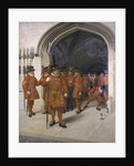 The Yeomen of the Guard Searching the Crypt of the Houses of Parliament by Sir Arthur Temple Felix Clay