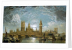 Westminster Bridge, the Houses of Parliament and Westminster Abbey Seen from the River by John Anderson