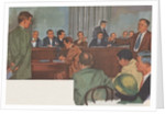 Alger Hiss before House Un-American Activities Committee by Corbis