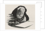 Alexander Graham Bell writing and smoking pipe by Corbis