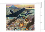 American Helldiver planes bombing Tokyo during World War II by Corbis
