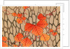 Woodblock print of fall leaves on delicate branches by Corbis