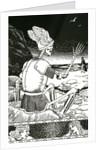 Death as a skeleton bidding farewell to man by Corbis