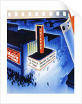 Art Deco movie theater on opening night by Corbis