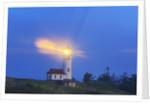 light thru fog, Cape Blanco Lighthouse, South Oregon Coast, Pacific Ocean, Pacific Northwest. by Corbis