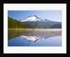 Reflection in Trillium Lake, Mt. Hood, Oregon Cascades. Pacific Northwest by Corbis