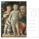 Sacra Familia, or Holy Family with Saint John by Andrea Mantegna