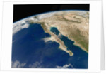 Satellite View of Baja California and the Pacific coast of Mexico by Corbis