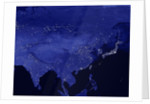 Night time satellite view of China and Siberia by Corbis