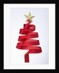 The tree shaped red tie and gold star by Corbis