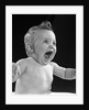 1950s happy baby head laughing with mouth wide open by Corbis