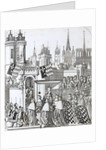 Isabella of Bavaria, Wife of Charles, King of France, entering Paris with great ceremony. by Corbis