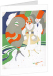 Caricature of flappers wearing furs by Corbis