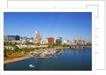 Portland waterfront and Willamette River, Portland Oregon by Corbis